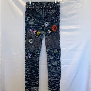 BLK DNM Denim Jeans w/ Patches